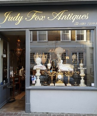Judy fox antiques Portobello shop front