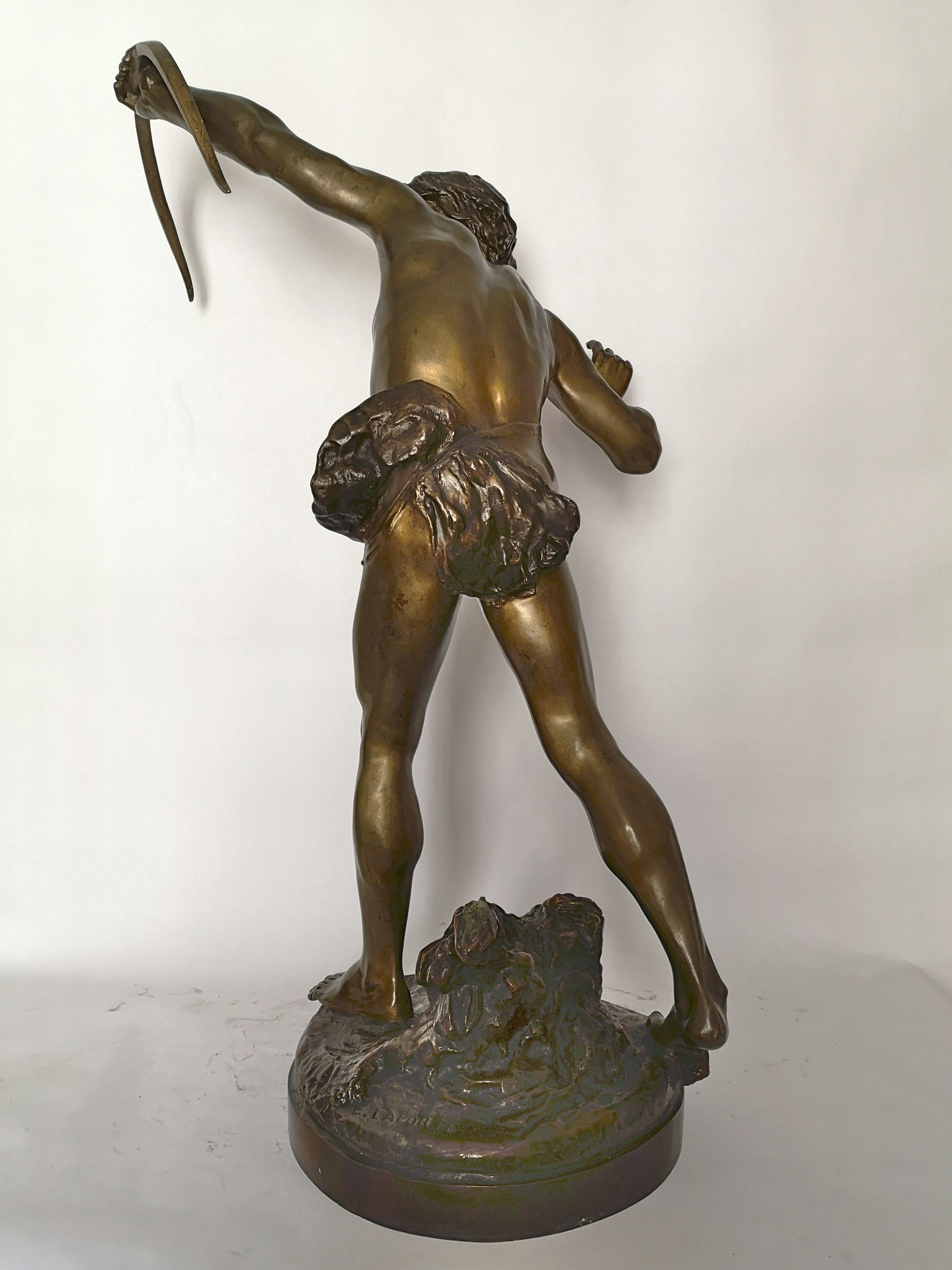 Late 19th Century Bronze Of Acteon By E . Laporte (1858-1907)