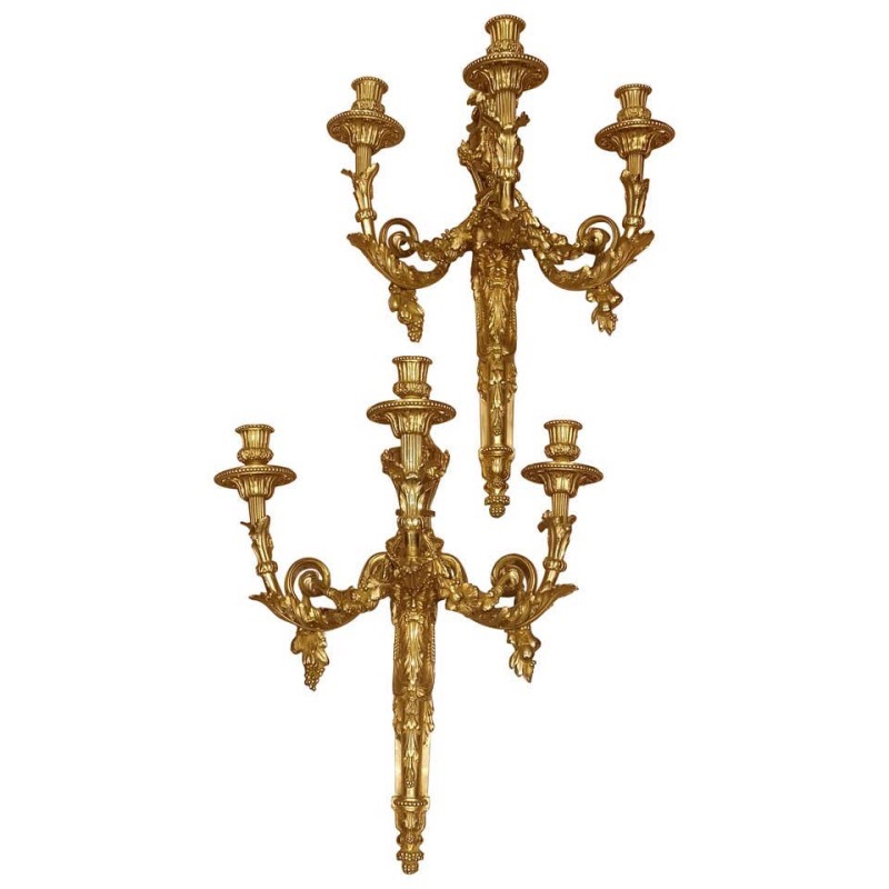 04a_Extraordinary Pair Of Large 19th Century French Wall Sconces.jpg