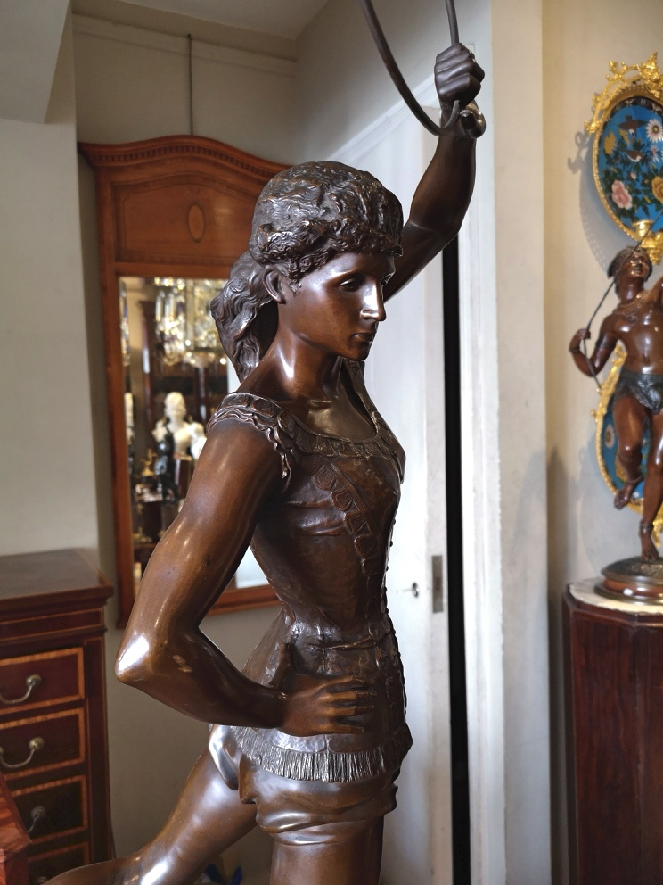 1920s French Bronze of a gymnast