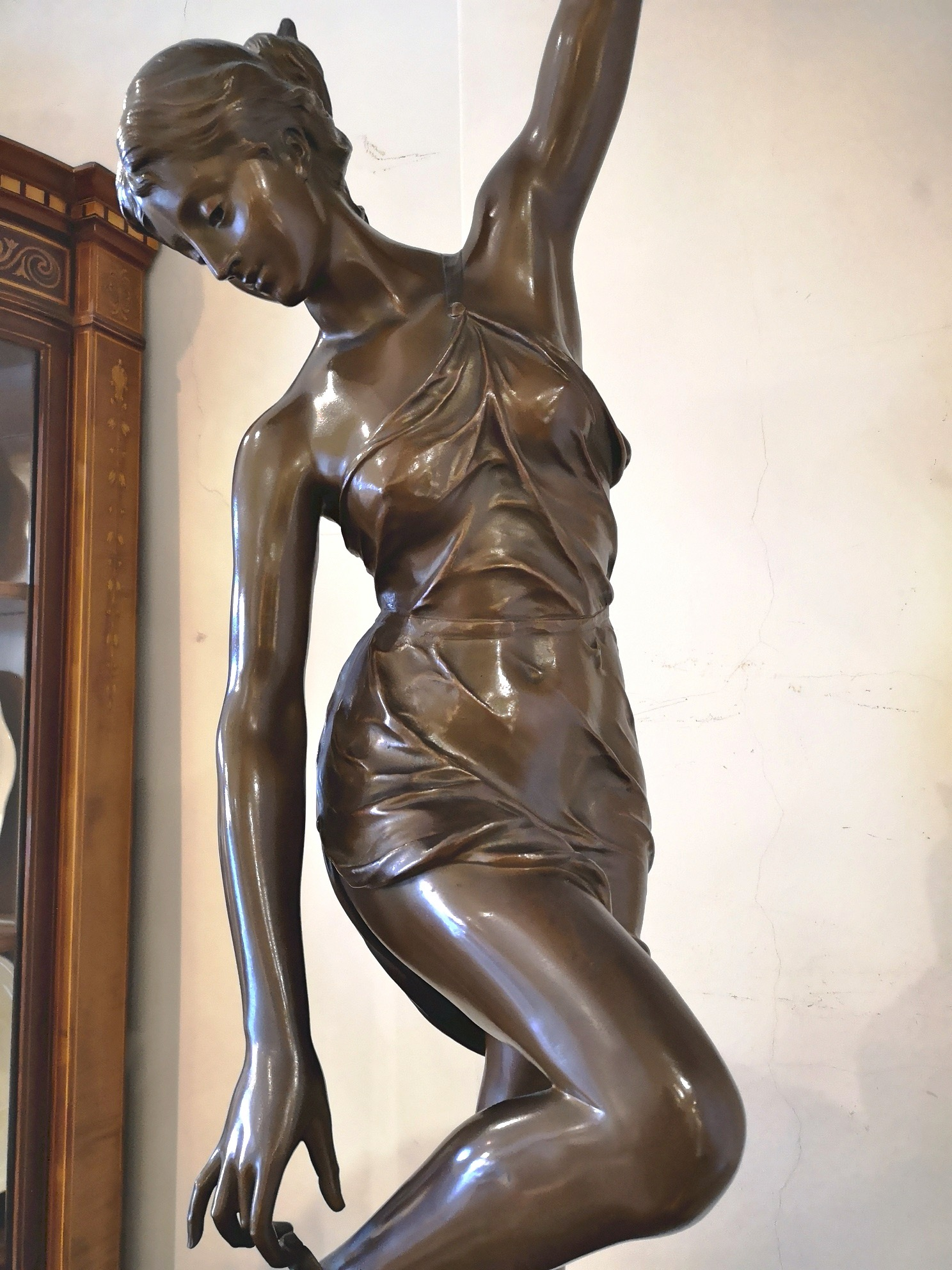 A large French bronze of Atalante by George Saulo (1865-1945)