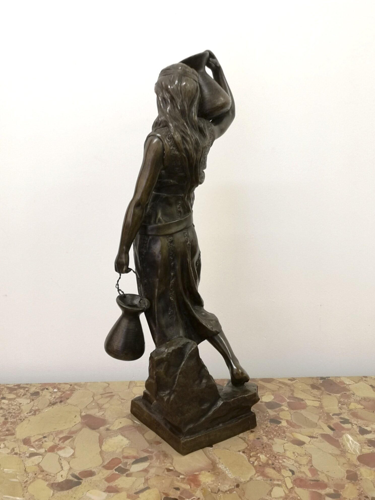 19th Century French Bronze Of An Arab Water Carrier By George Coudray