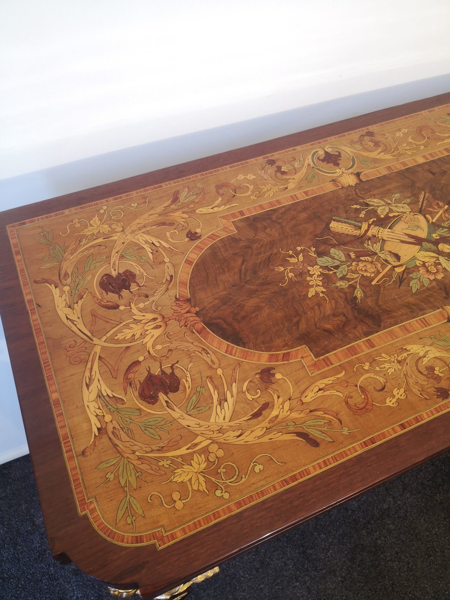 19th Century French Marquetry And Gilt Bronze Card Table