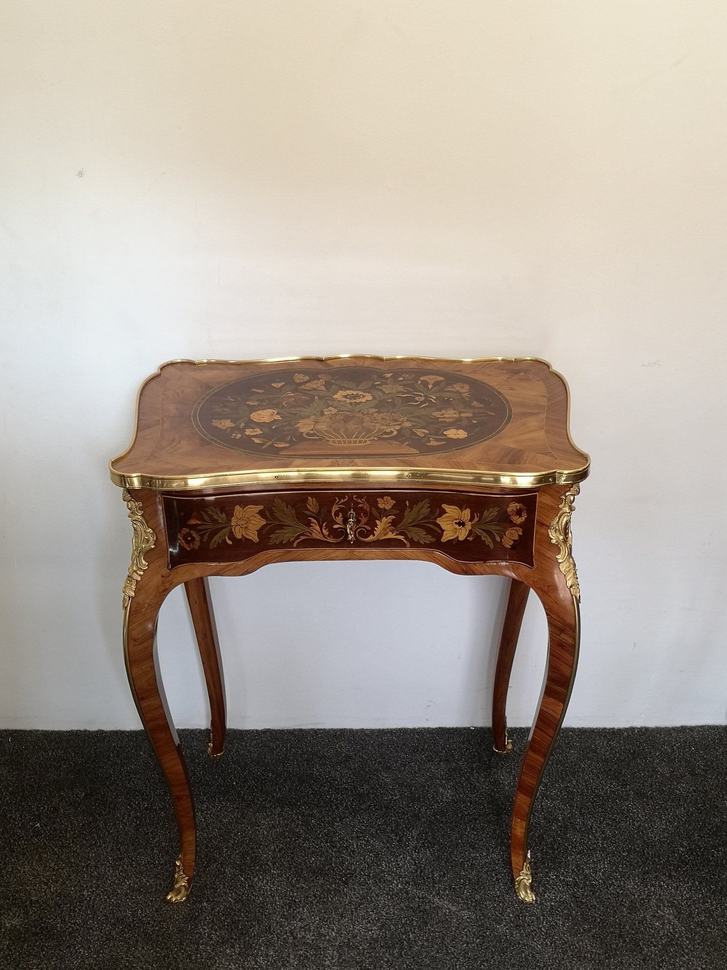 19th Century Kingwood And Marquetry Side Table
