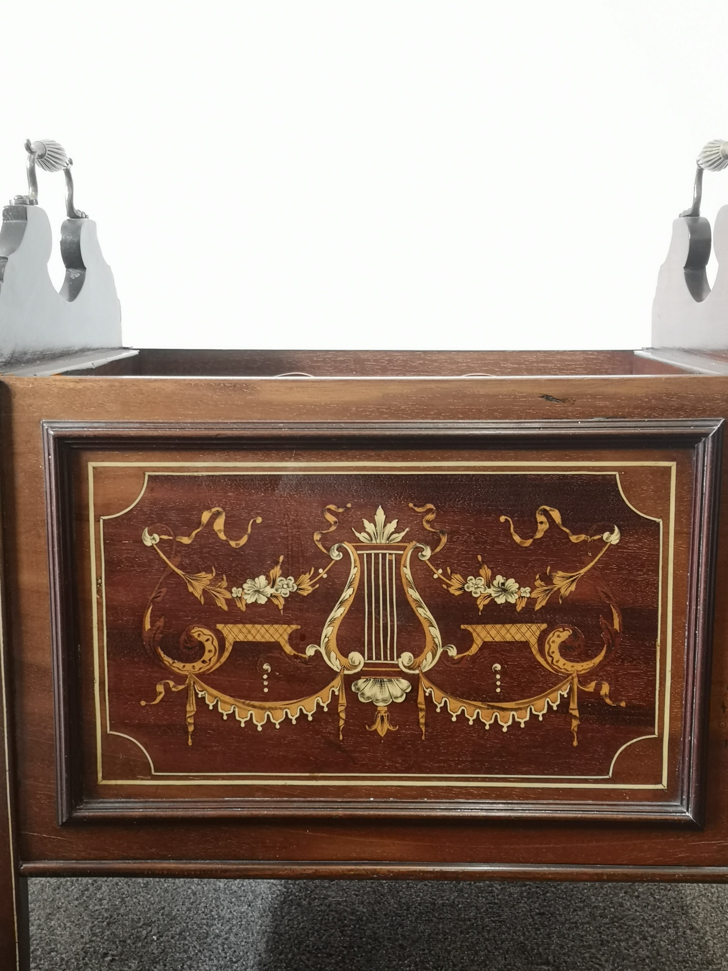 Victorian Mahogany And Inlaid Canterbury