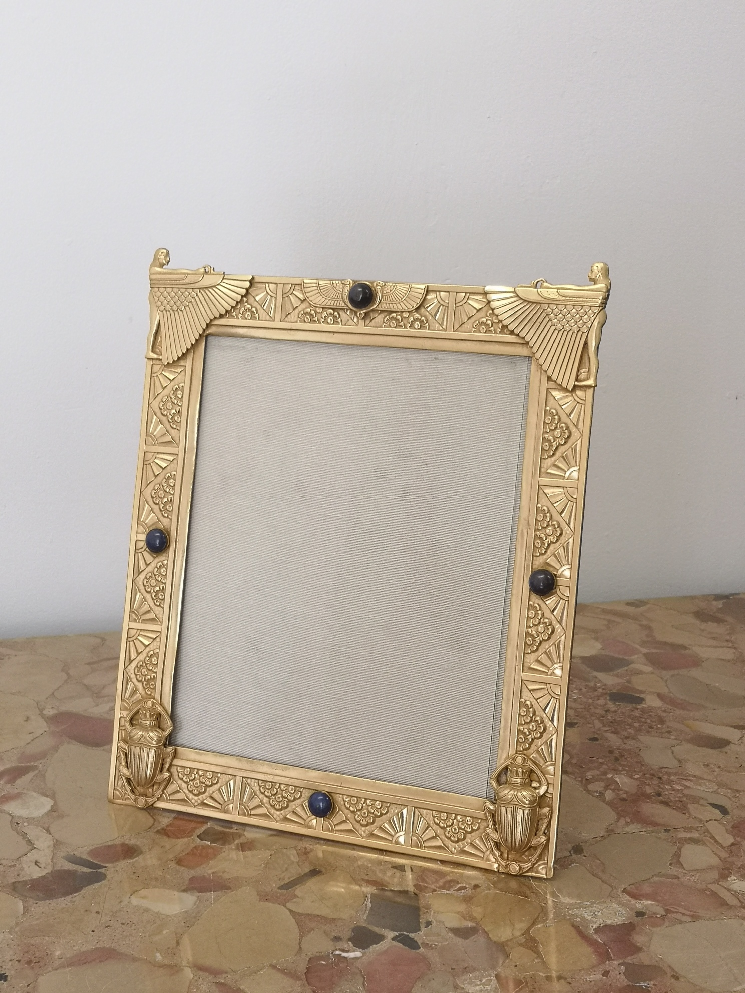 A Selection Of Early 20th Century French Gilt Bronze Photo Frames