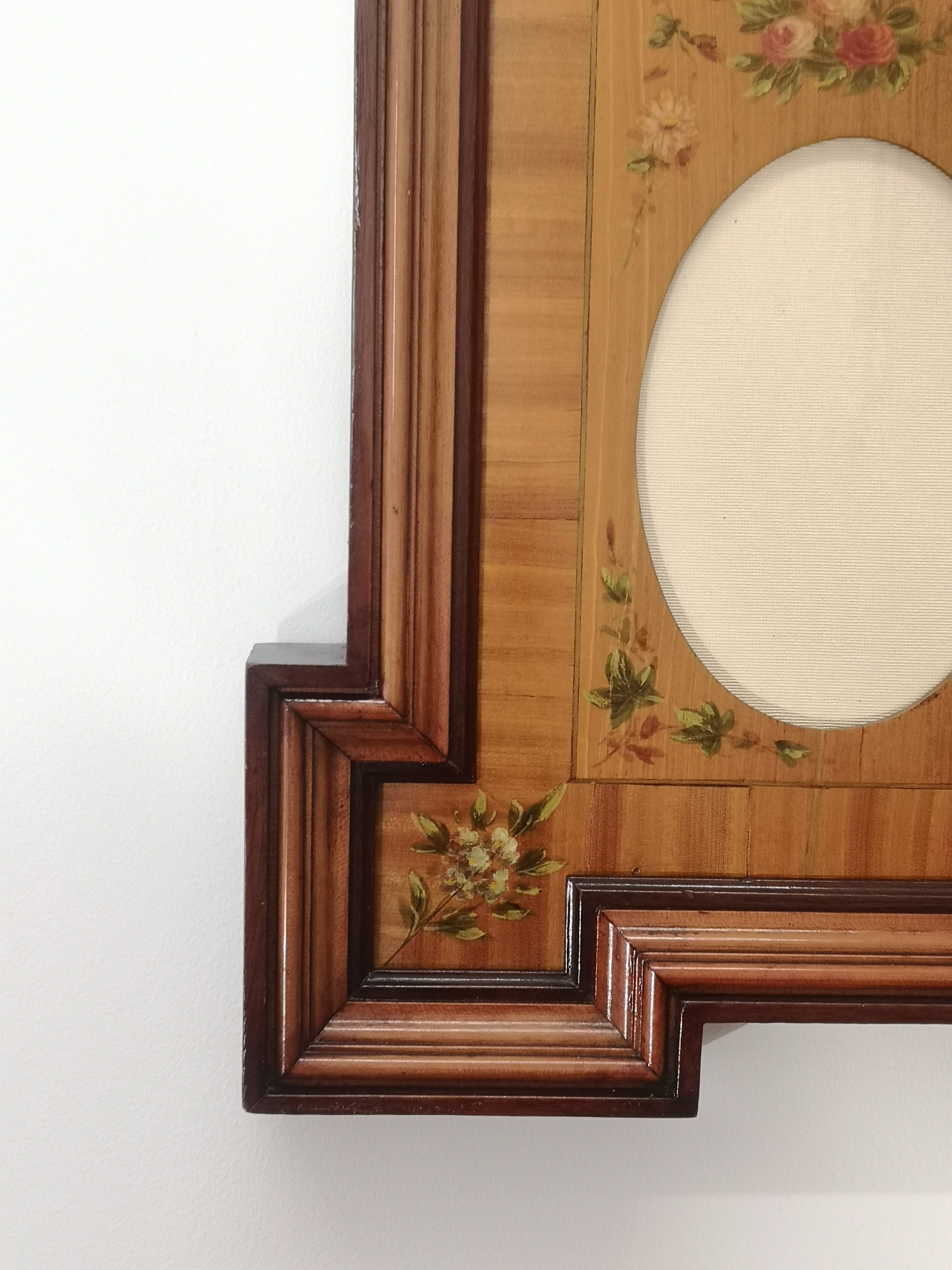 Edwardian Painted Satinwood Photo Frame