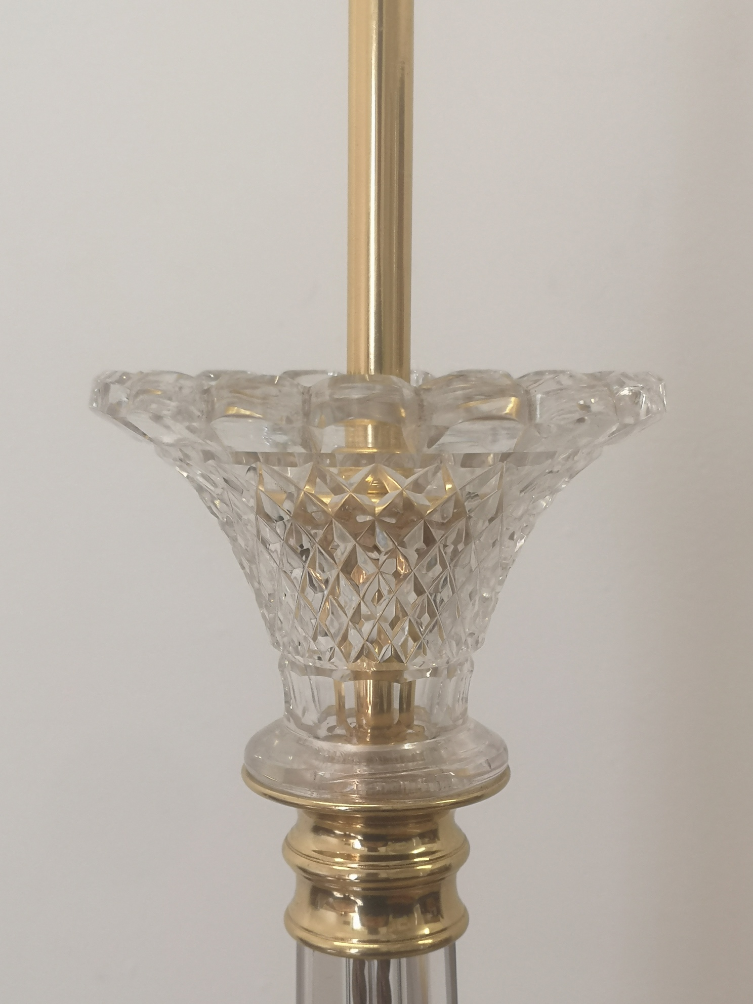 Early 20th Century Cut Crystal Table Lamp