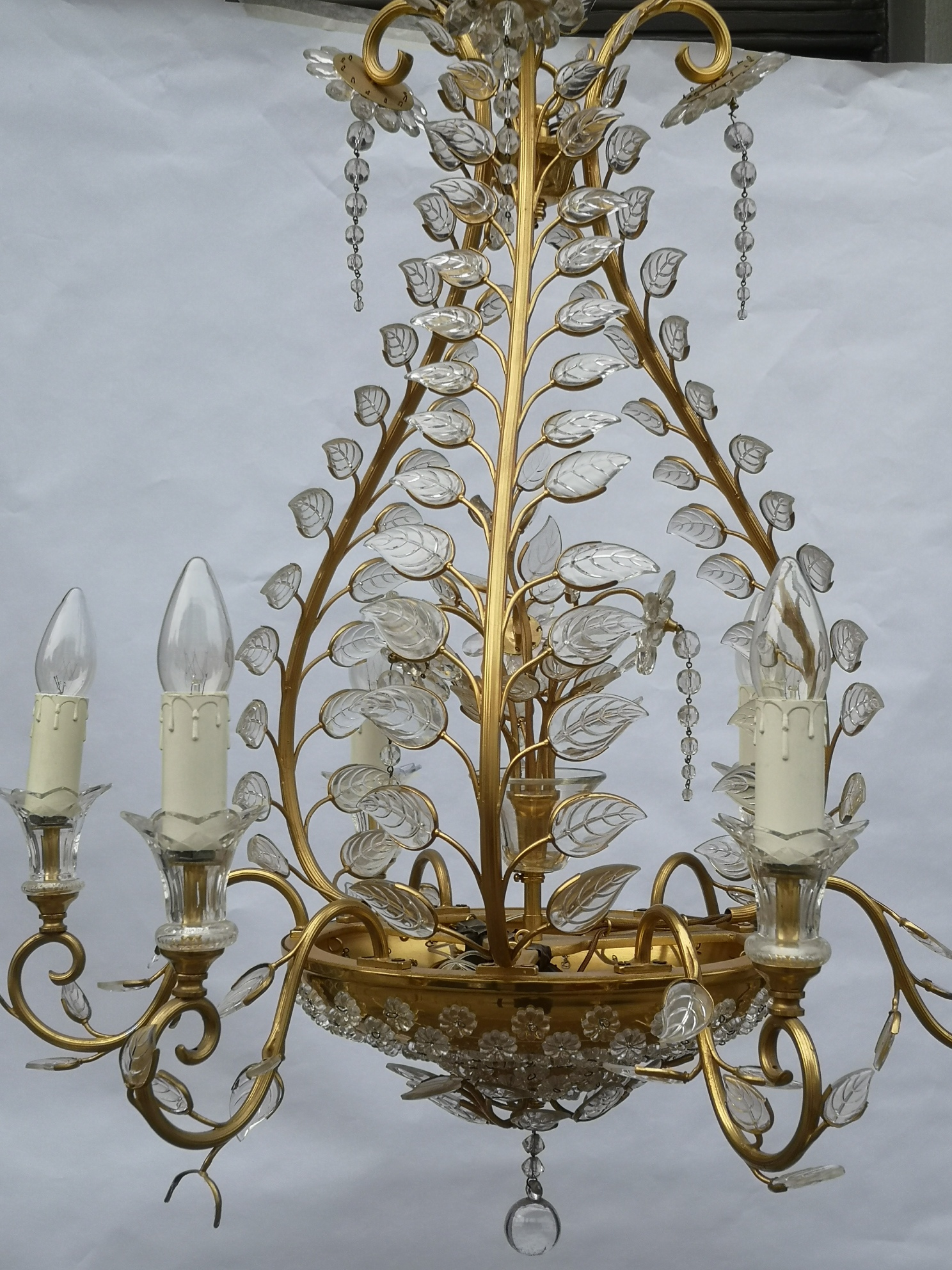 Mid 20th Century Chandelier In The Style Of Maison Bagues