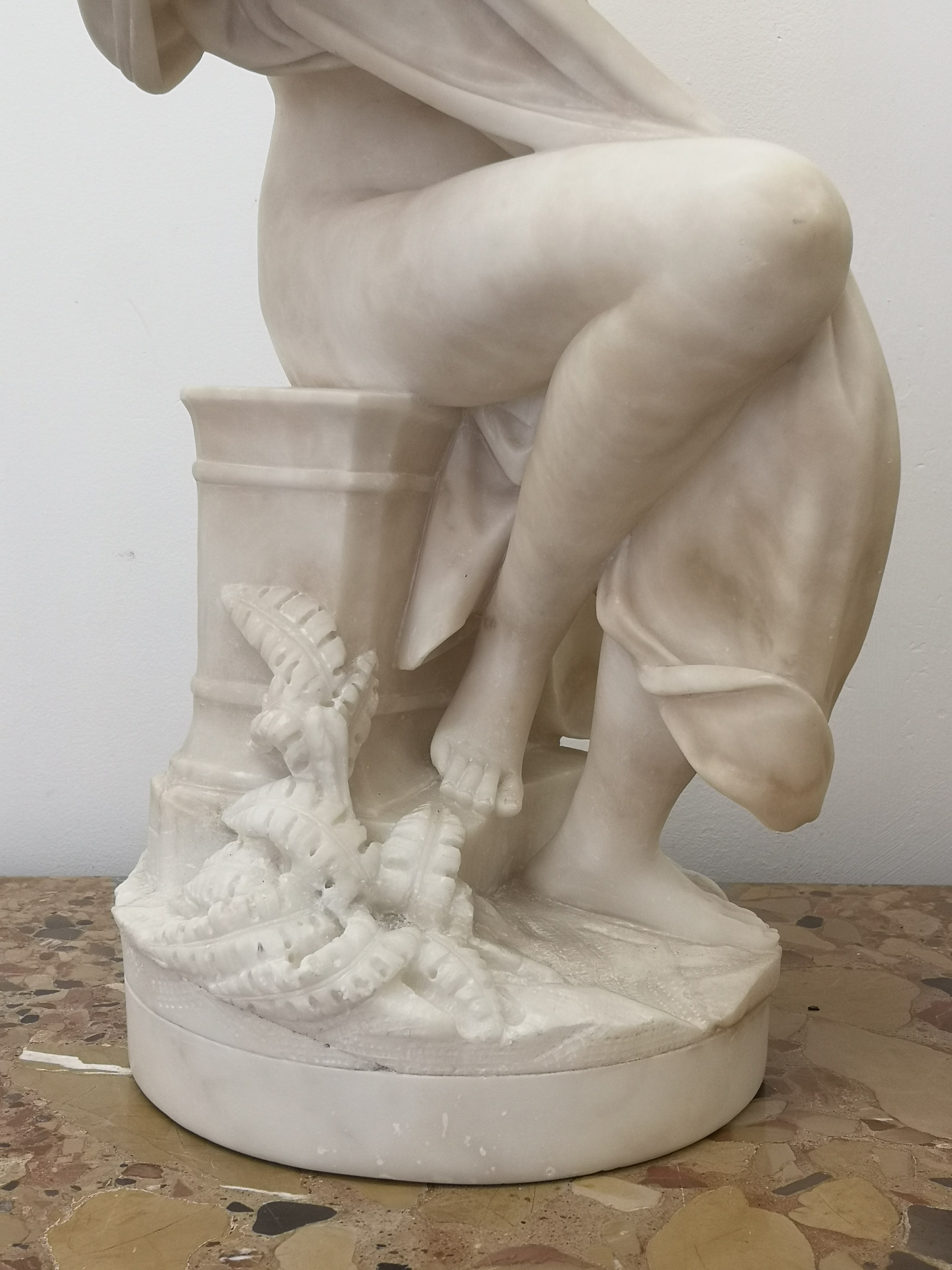 19th Century French Marble Sculpture Of A Lady