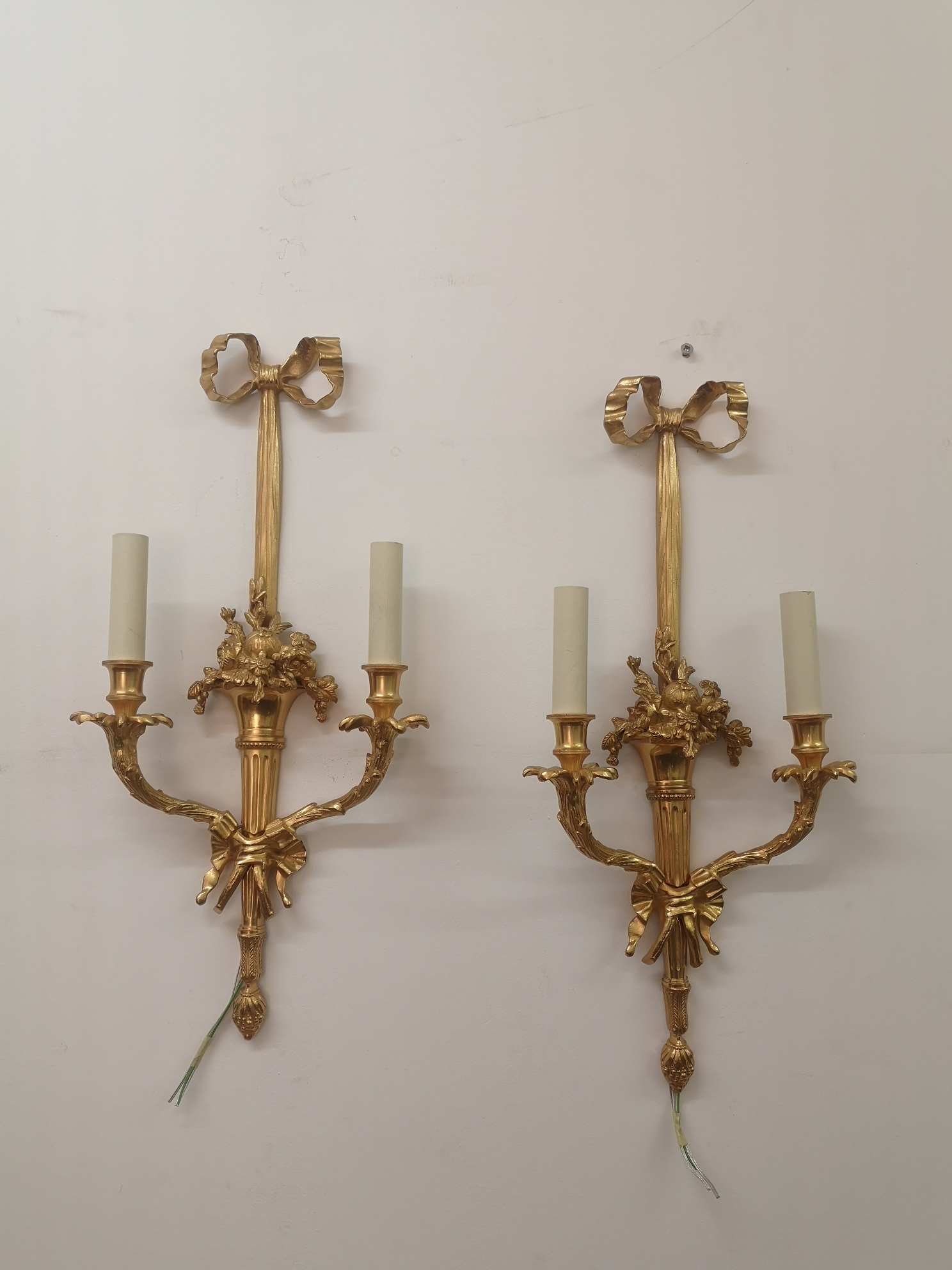 Pair Of 19th Century French Gilt Bronze Wall Lights