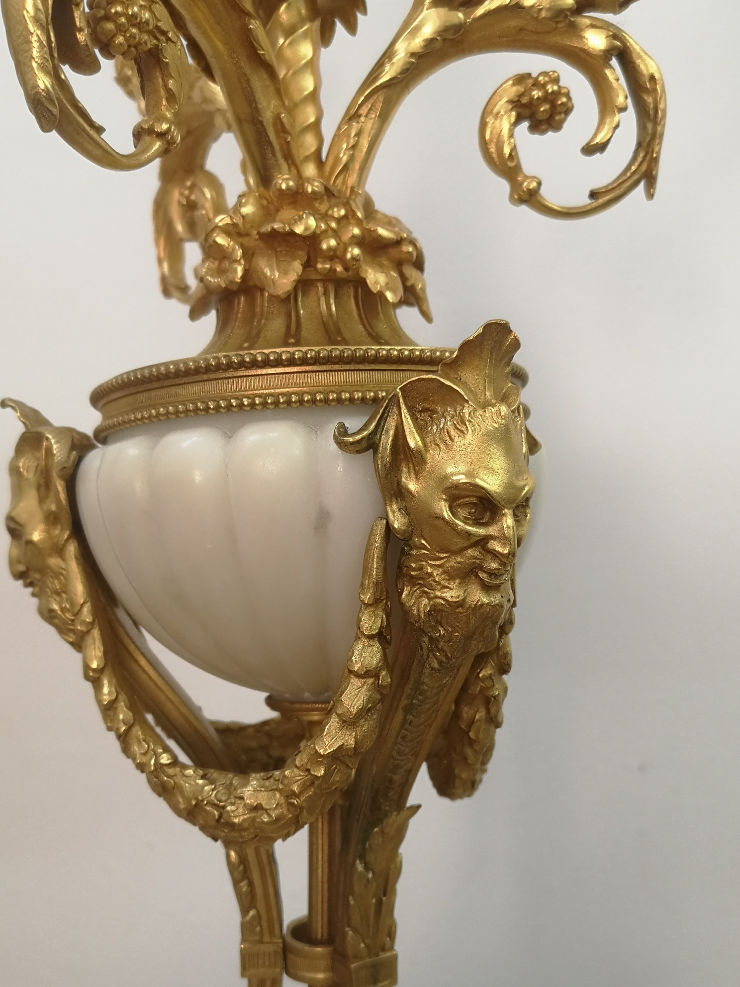 Pair Of 19th Century French Marble And Gilt Bronze Candelabra