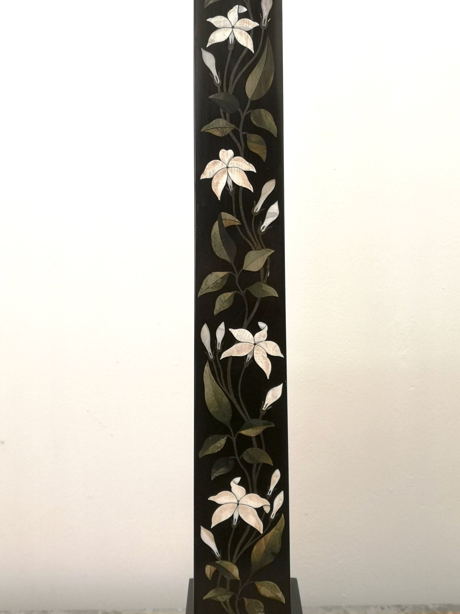 Pair Of Large 19th Century Derbyshire Pietra Dura Marble Obelisks