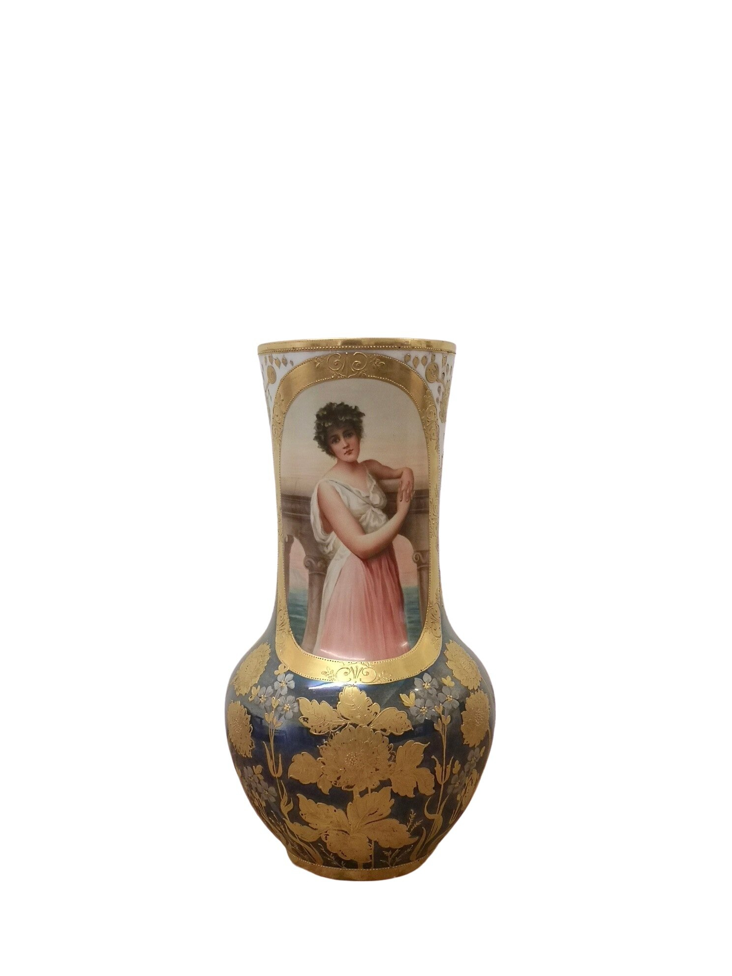 Late 19th Century Vienna Porcelain Painted Vase